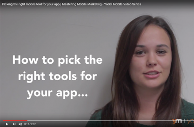 yodel mobile mastering mobile marketing video series mobile app tool