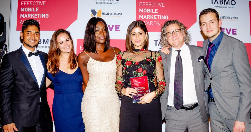 Yodel Mobile team at Effective Mobile Marketing Awards