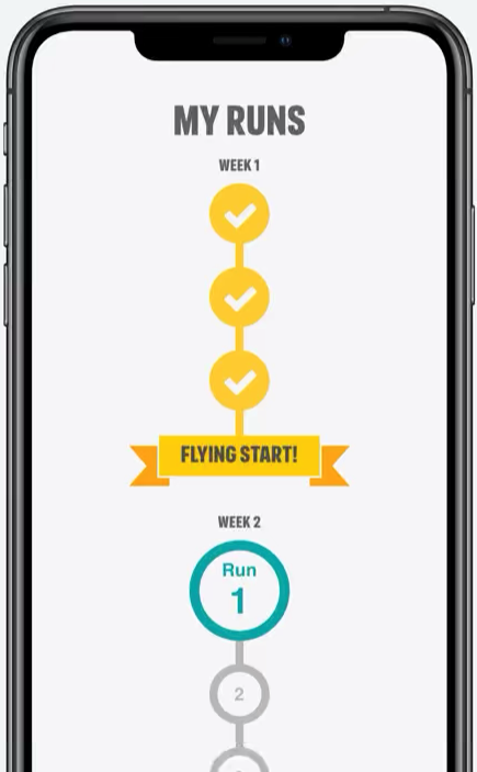 Couch to 5k fitness app